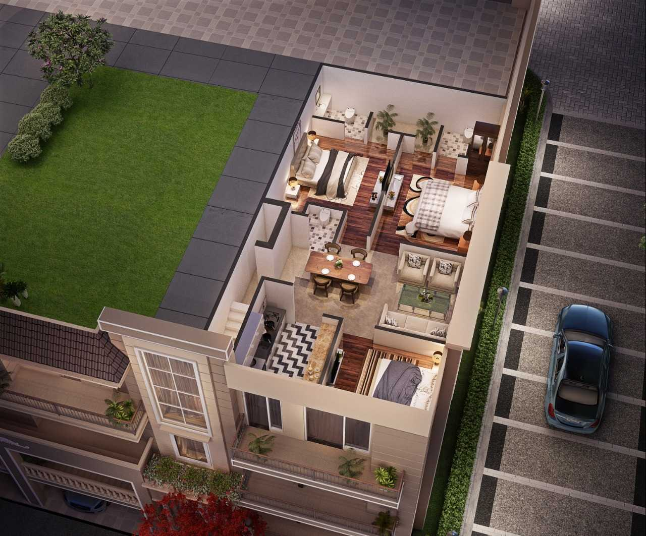 Riverdale Aerovista brings you plots, villas and independent floors - 3 BHK near Aerocity, Mohali mktd by Dewan Realtors
