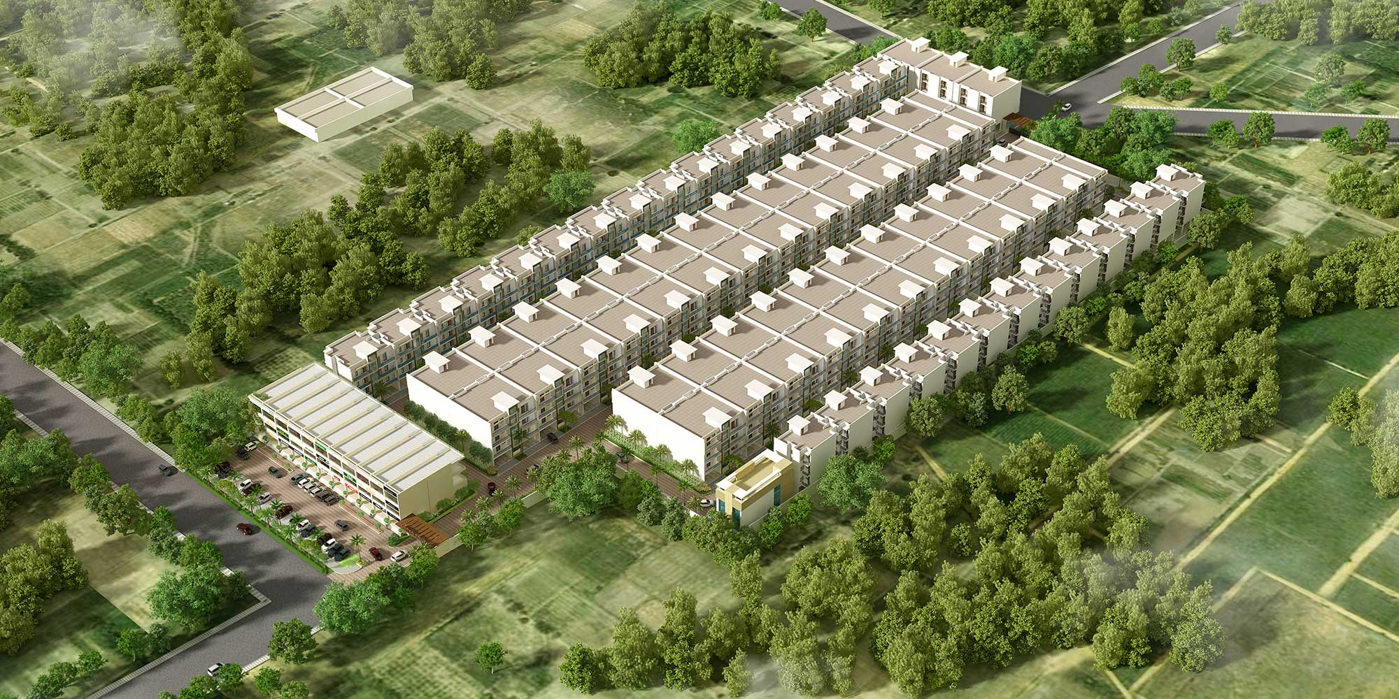 Metro Town, Zirakpur - 3 BHK ready to move independent floors in Peer Muchalla mktd by Dewan Realtors