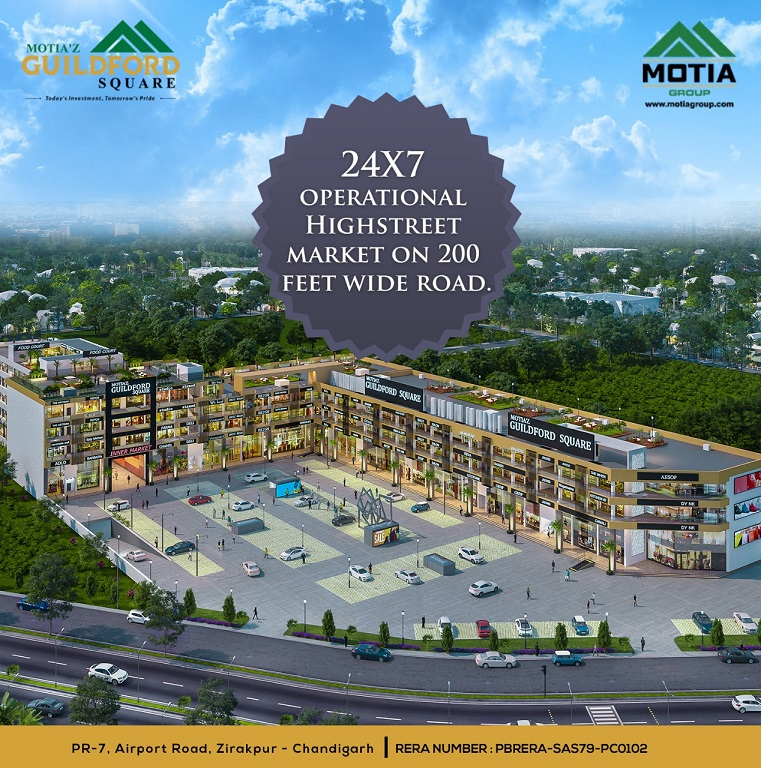Motia Guildford Square - Commercial in Zirakpur - Dewan Realtors - Best property dealer in Zirakpur
