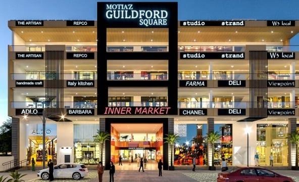Motia Guildford Square - Commercial in Zirakpur - Dewan Realtors - Best property dealer in Zirakpur