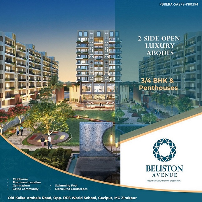 Beliston Avenue, Zirakpur - Luxury flats in Zirakpur - Dewan Realtors - Best Property Dealer in Zirakpur
